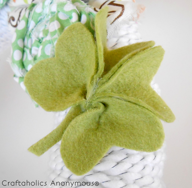 felt shamrock tutorial