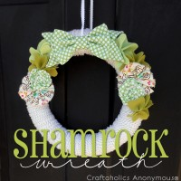 St. Patrick's Day Shamrock Wreath Tutorial