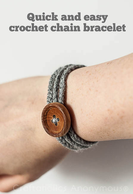 Easy Crochet Chain Bracelet