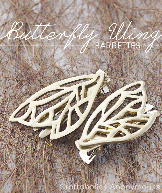 diy butterfly wing barrettes