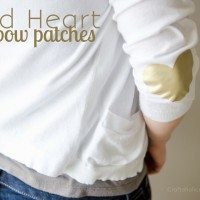 Easy Gold Heart Elbow Patches