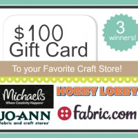 Win $100 to your Favorite Craft Store!