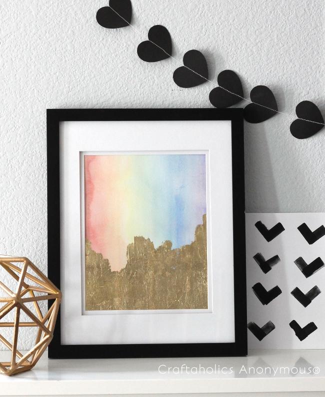St. Patrick's Day rainbow Art
