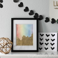 Rainbow Art with Gold Leaf Tutorial