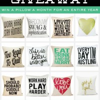 A Year of Pillows Giveaway!