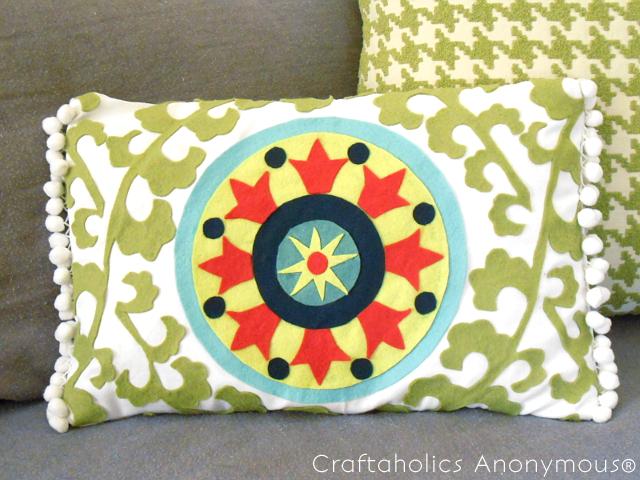 DIY Suzani pillow tutorial