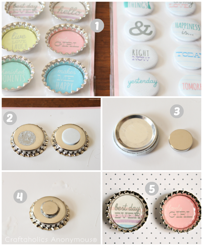 Craftaholics Anonymous 174 Diy Easy Embellished Magnets