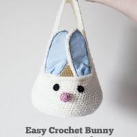Crochet Bunny Basket Tutorial