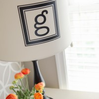 Easy Monogram Lampshade