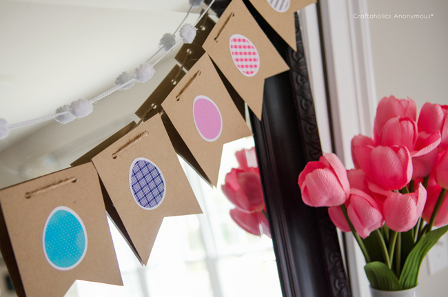 paper easter egg bunting