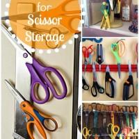 29 Scissor Storage Ideas - organization and storage tips for all your crafting scissors! #scissors #craftroom #organization