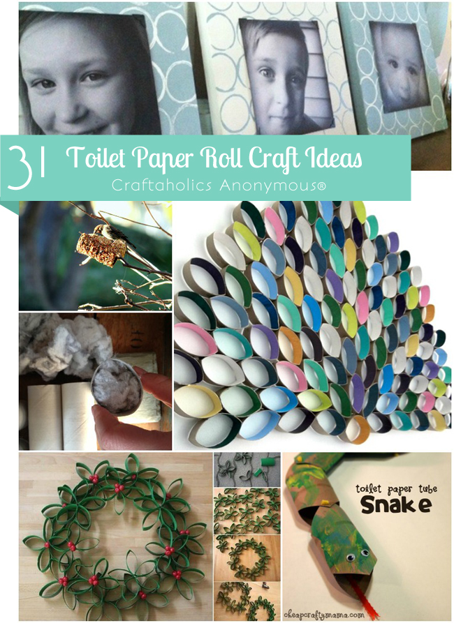 Toilet Paper roll crafts ideas. Lots of great uses for TP rolls!