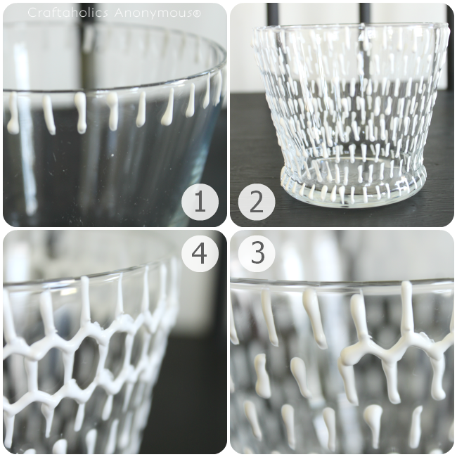 how to make a honeycomb or hexagon vase with a few simple crafting supplies. click for tutorial!
