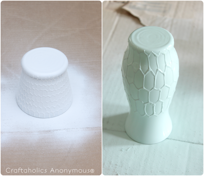 Love this honeycomb vase makeover! I need to make one for my kitchen.