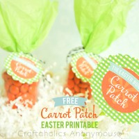Free Carrot Patch Easter Printable