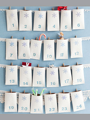 christmas advent calendar made with TP rolls. This post has tons of Toilet paper roll craft ideas.