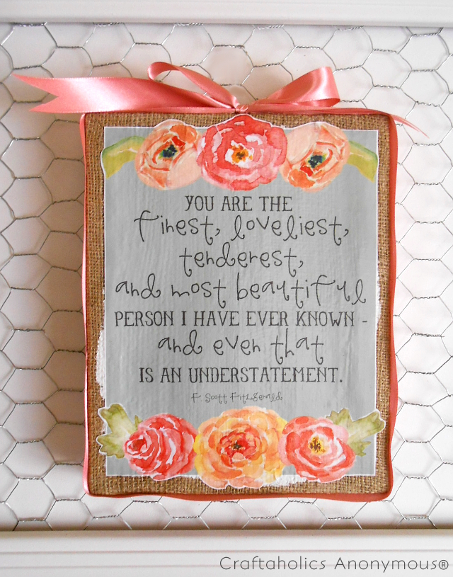 Craftaholics Mothers-Day finish {correct spelling}