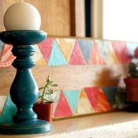 Geometric Art on Reclaimed Wood