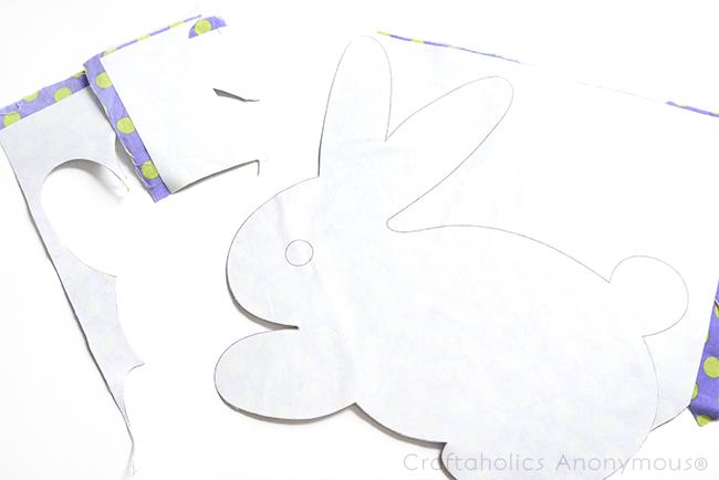bunny easter basket bag