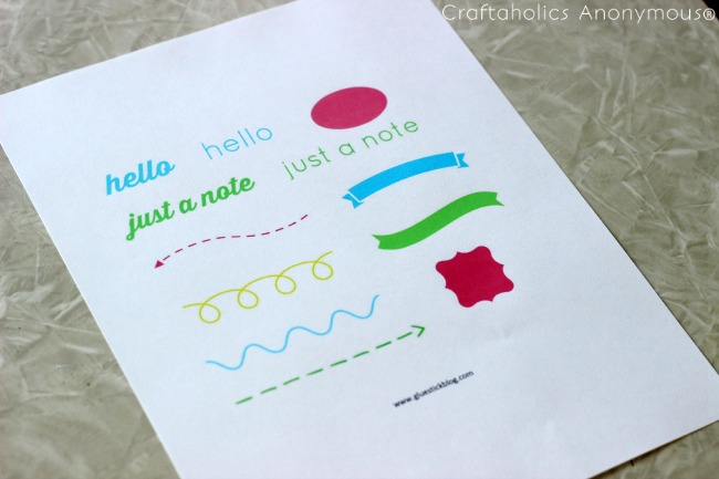 free printable hand-stitching template. Perfect for handmade cards!