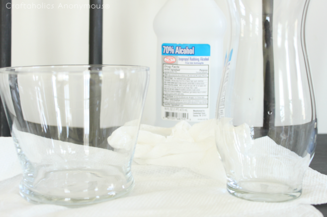 how to add a design to a glass vase