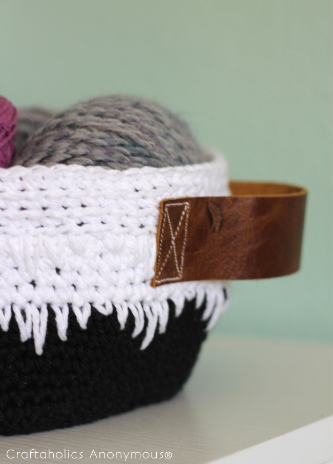 geometric crochet basket