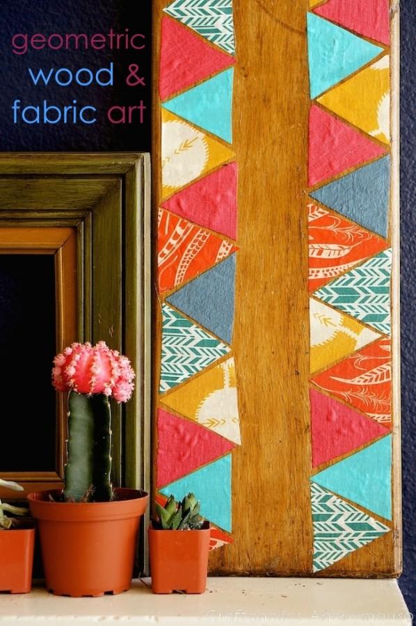 fabric-wood-art