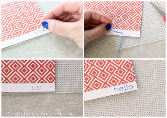 hand-sttiched note cards. Super cute and easy to add a handmade touch!