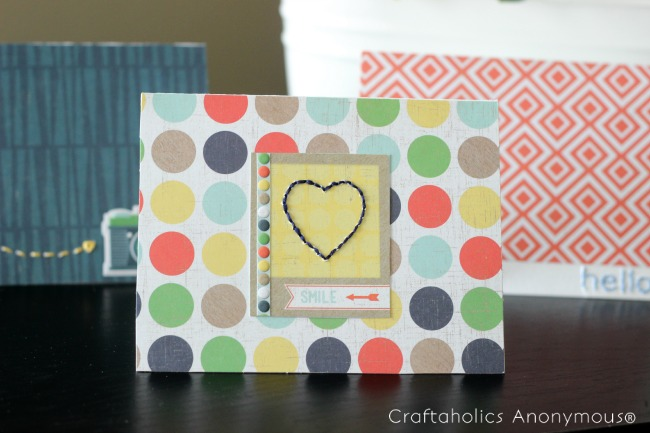 handmade note cards with simple stitching. Super cute and easy to make!