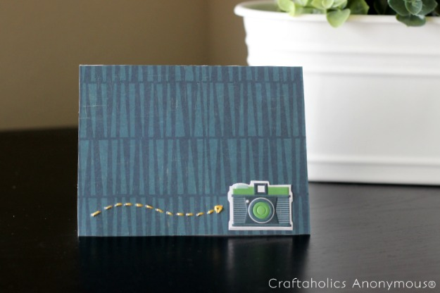 handmade note card with stitching. {free printable template}