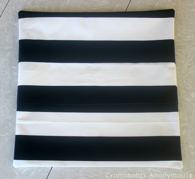 DIY black and white stripe pillow covers