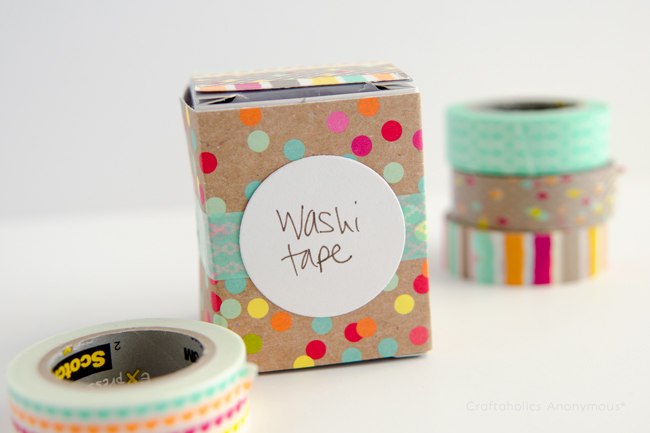 Washi tape craft. Love the colors!