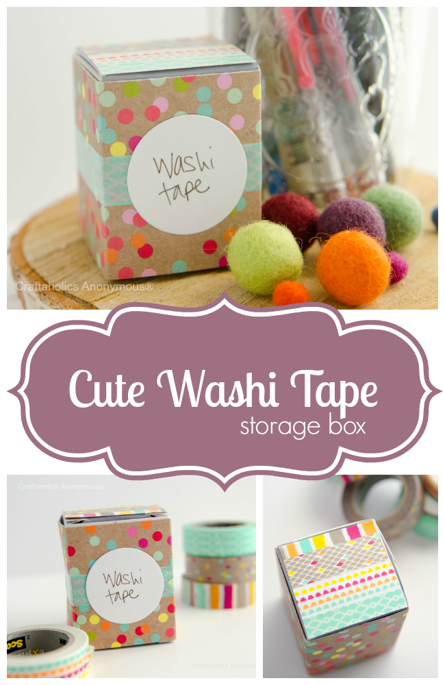 cute washi tape storage box
