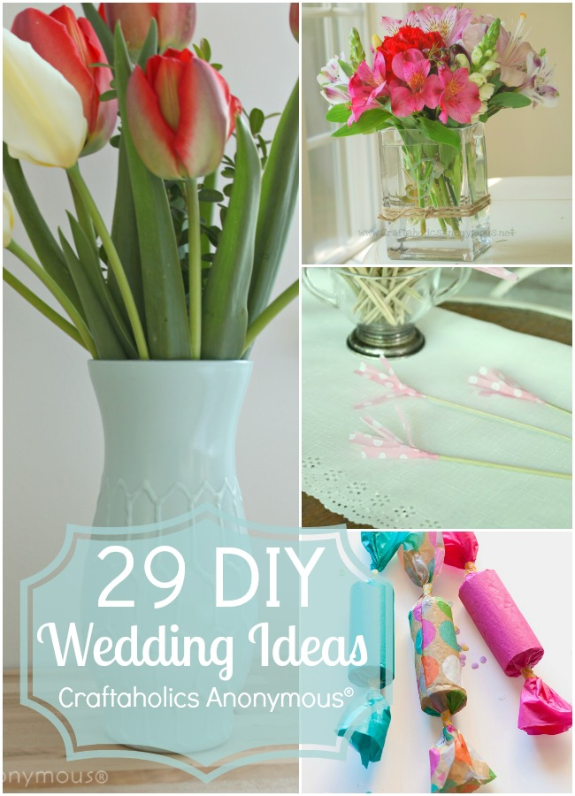 29 Simple and pretty DIY ideas for your wedding!