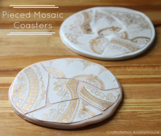 DIY Mosaic Coasters - protect your furniture from water rings!