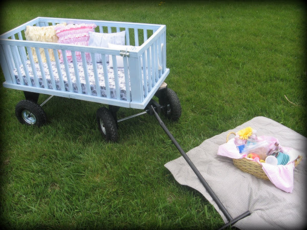 Turn an old crib into a wagon. This article has tons of reuses for old cribs!