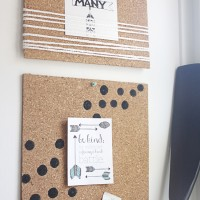 DIY Cork Board Frame and Organizer