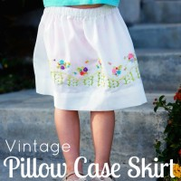 Vintage Pillowcase Skirt tutorial