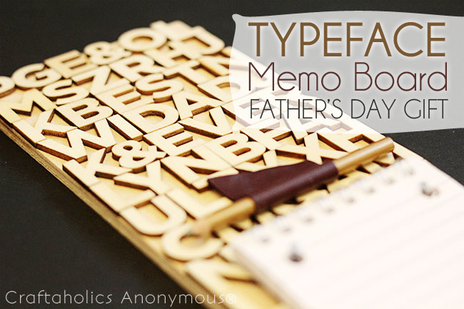 Typeface Memo board- Father's Day Gift