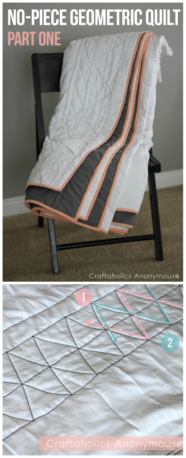 geometric quilt tutorial. super easy tutorial with great tips!