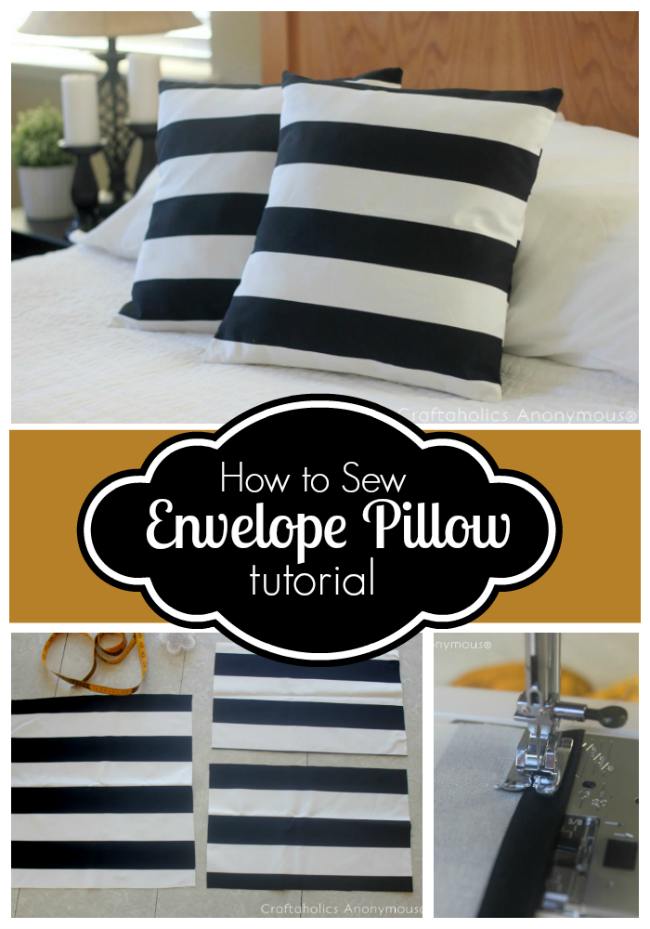 Simple Envelope Pillow cover tutorial. Takes only 15 minutes!