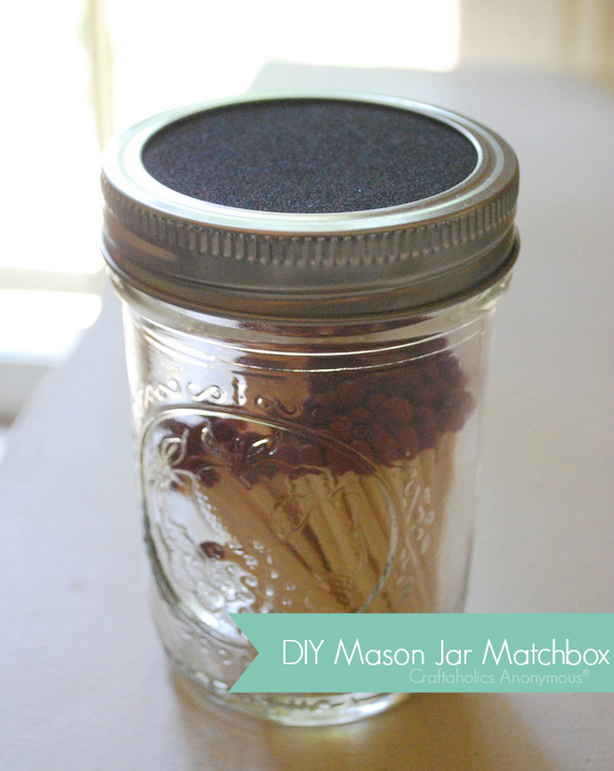 mason jar matchbox