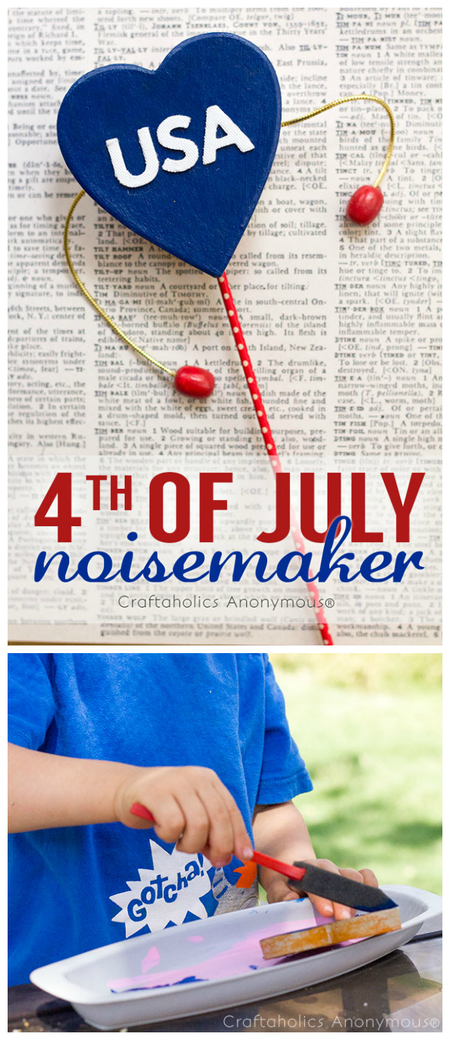4th of july noisemakers. fun craft idea for kids!