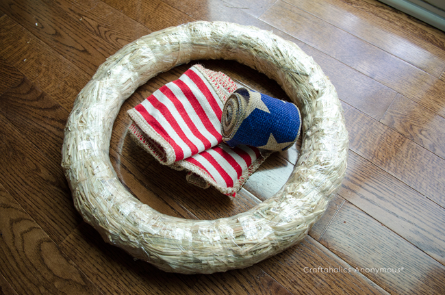 4th of July wreath tutorial