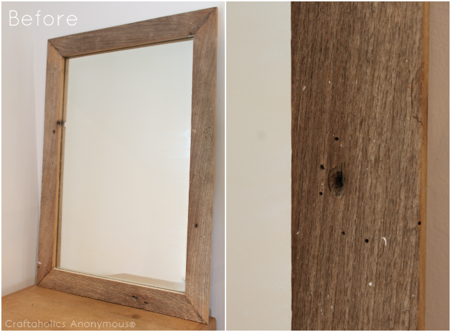 weathered mirror tutorial