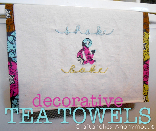 Make a decorative tea towel in an afternoon!