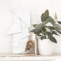 DIY Geometric Triangle Wall Art
