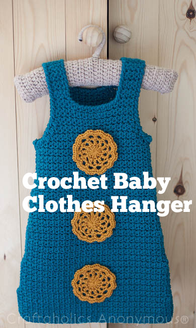 Crocheted Baby Clothes Hanger