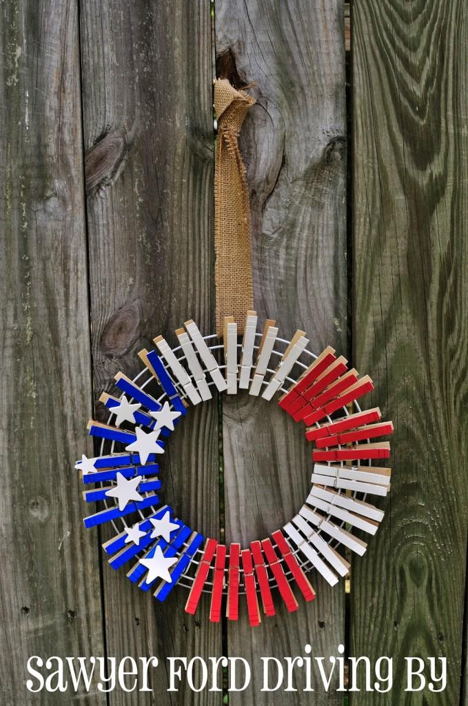 11 Clothespin Wreath
