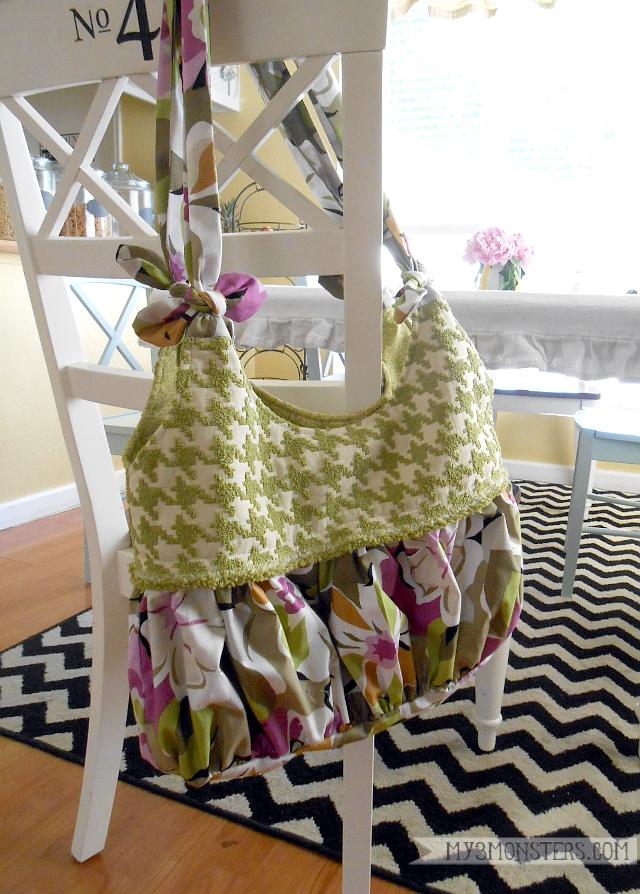 3 Tie Handle Hand Bag